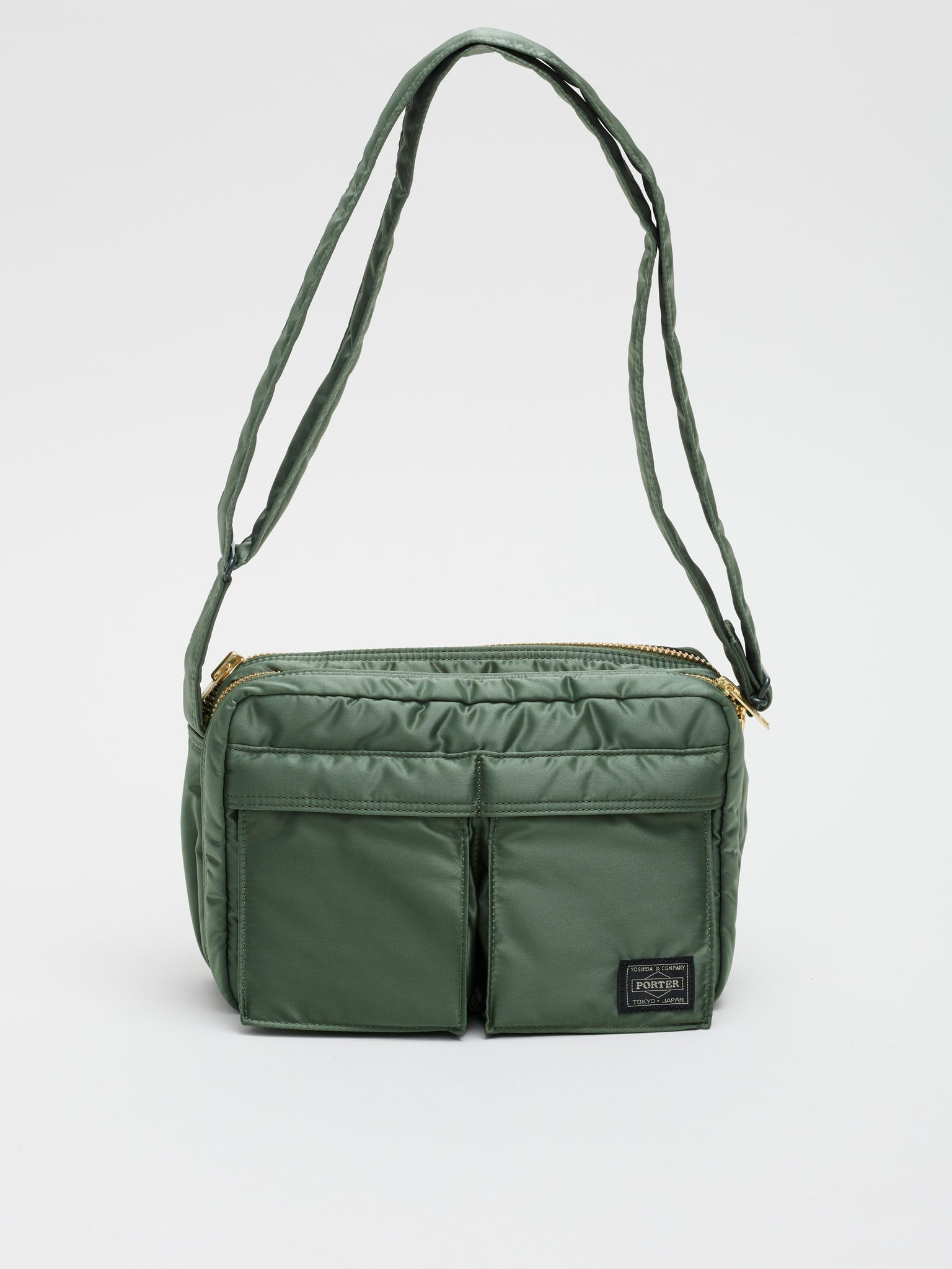 Tanker Shoulder Bag (square, 2 compartments S), Sage Green