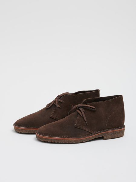 Clifford Desert Boot, Dark Brown Suede