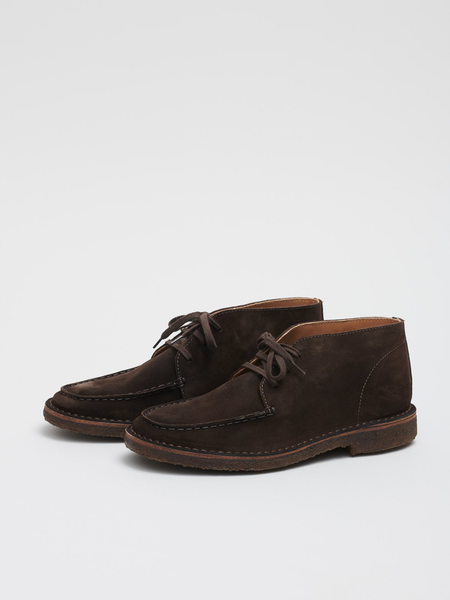 Crosby Moc-Toe Chukka Boot, Dark Brown Suede