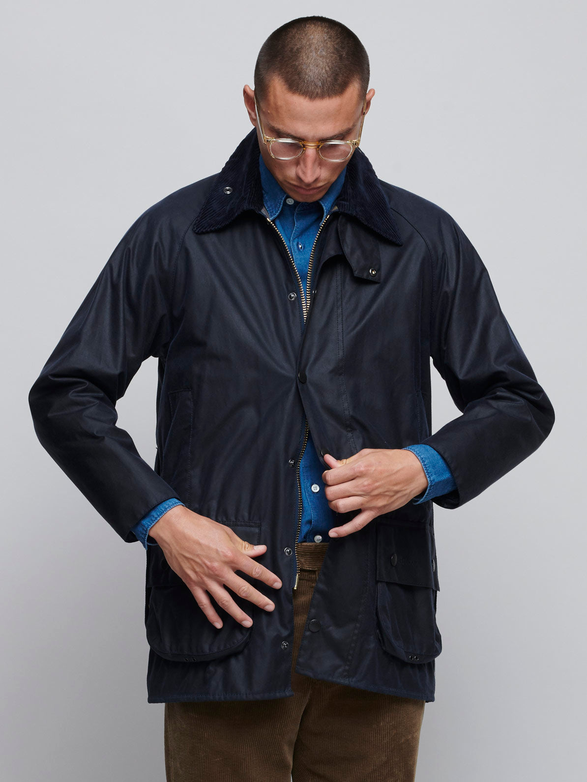 Beaufort Wax Jacket, Navy