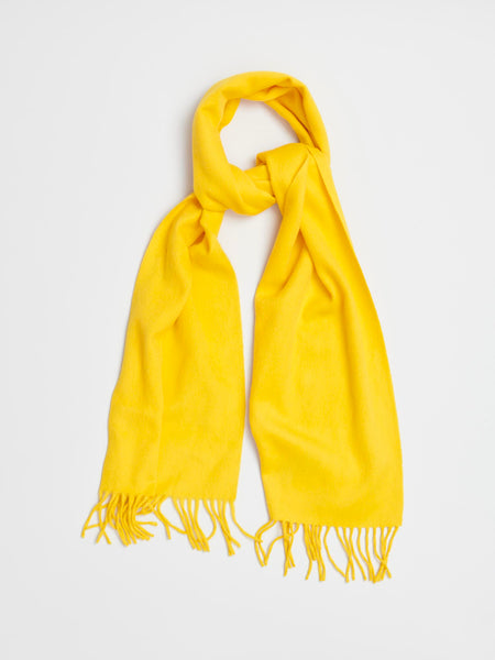 Lambswool & Angora Scarf, Yellow