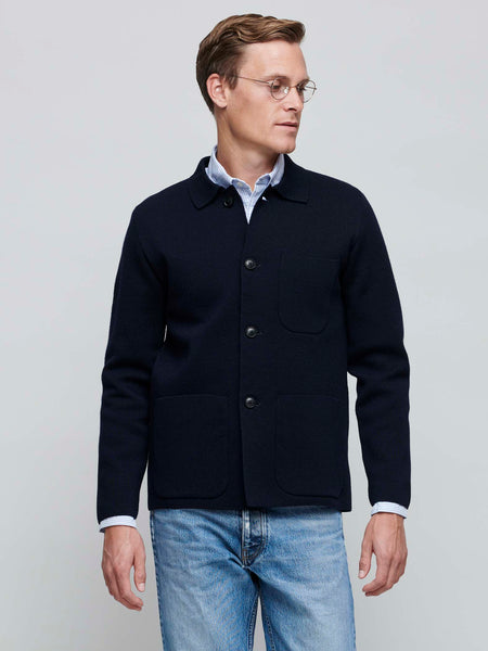 Work Jacket, Navy Blue