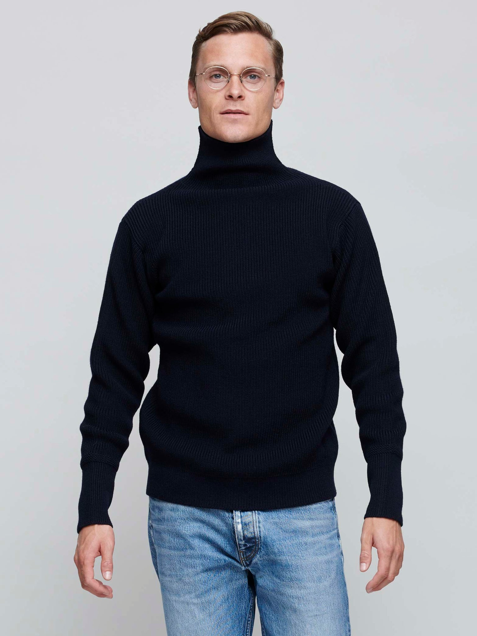 Sailor Turtleneck, Navy Blue