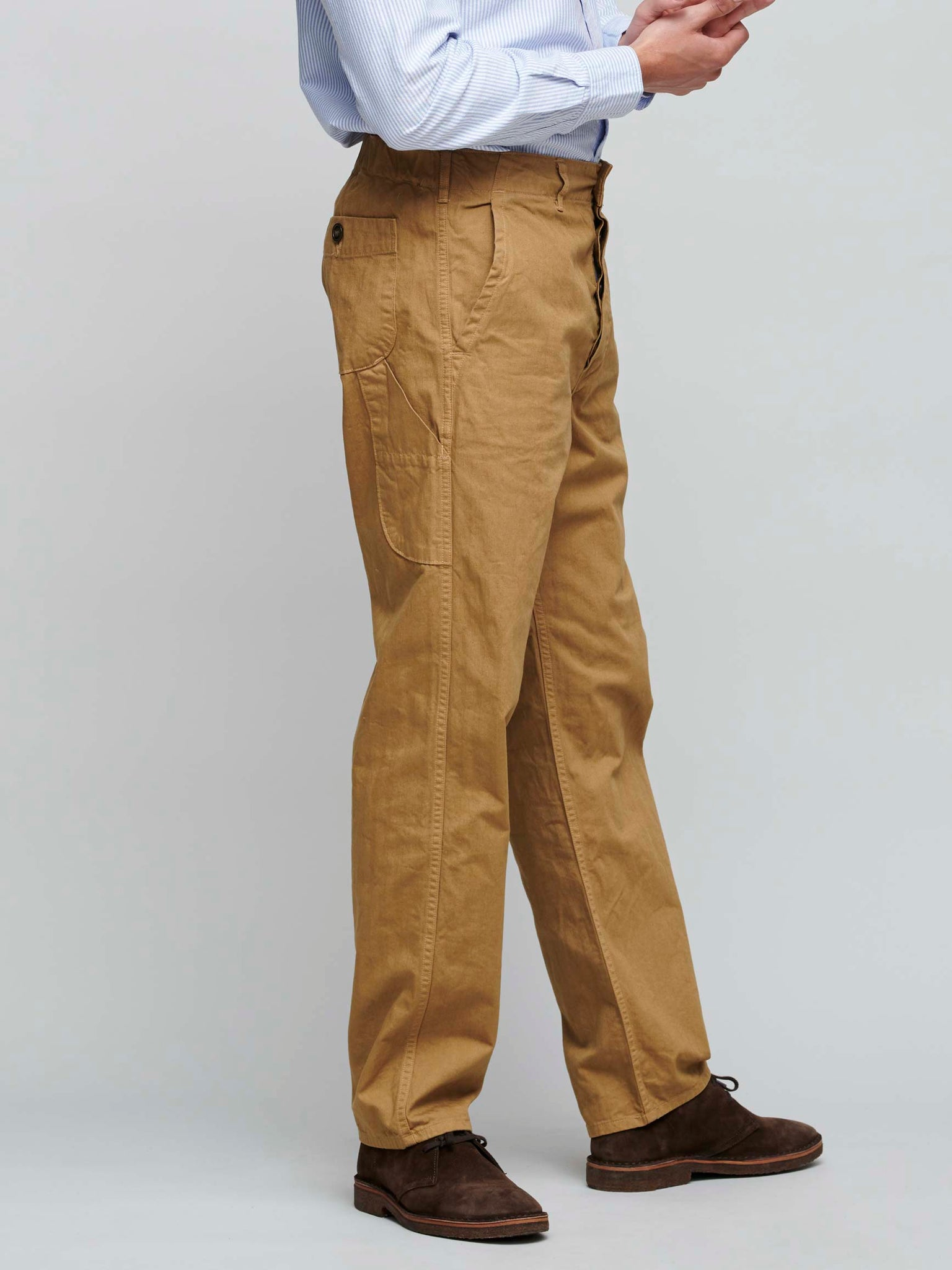French Worker Pants, Khaki