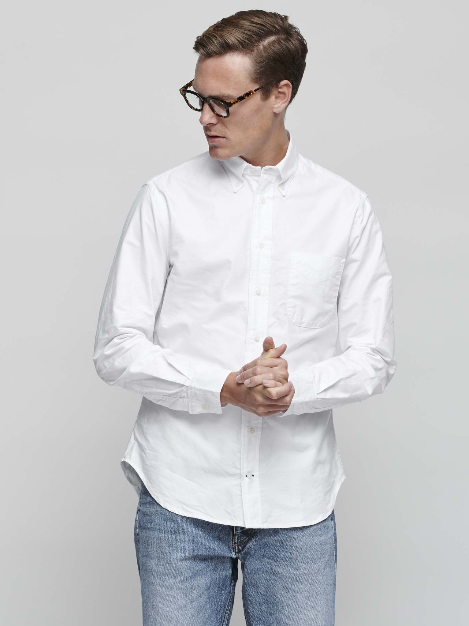 Oxford Shirt, White