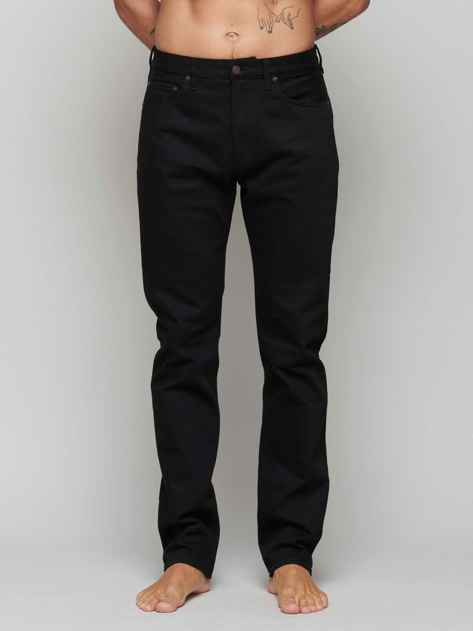 TM005 Tapered Jeans, Stay Black