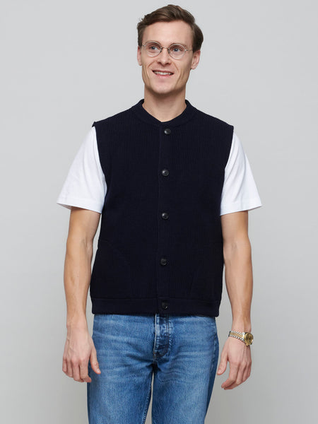 Skipper Vest, Navy Blue