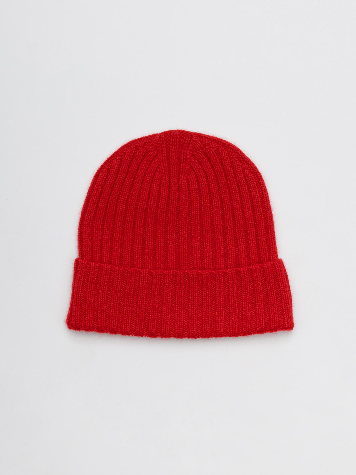 Cashmere Beanie, Bright Red