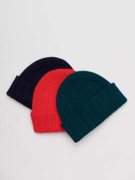 Ribbed Geelong-Angora Beanie