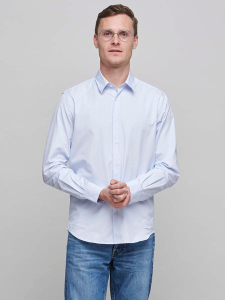 Standard Shirt 2.0 Poplin, Narrow Stripe