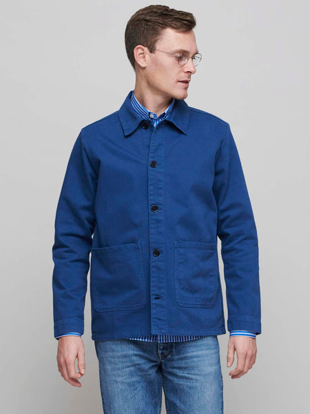 Heavy Shirt Jacket, French Worker Blue