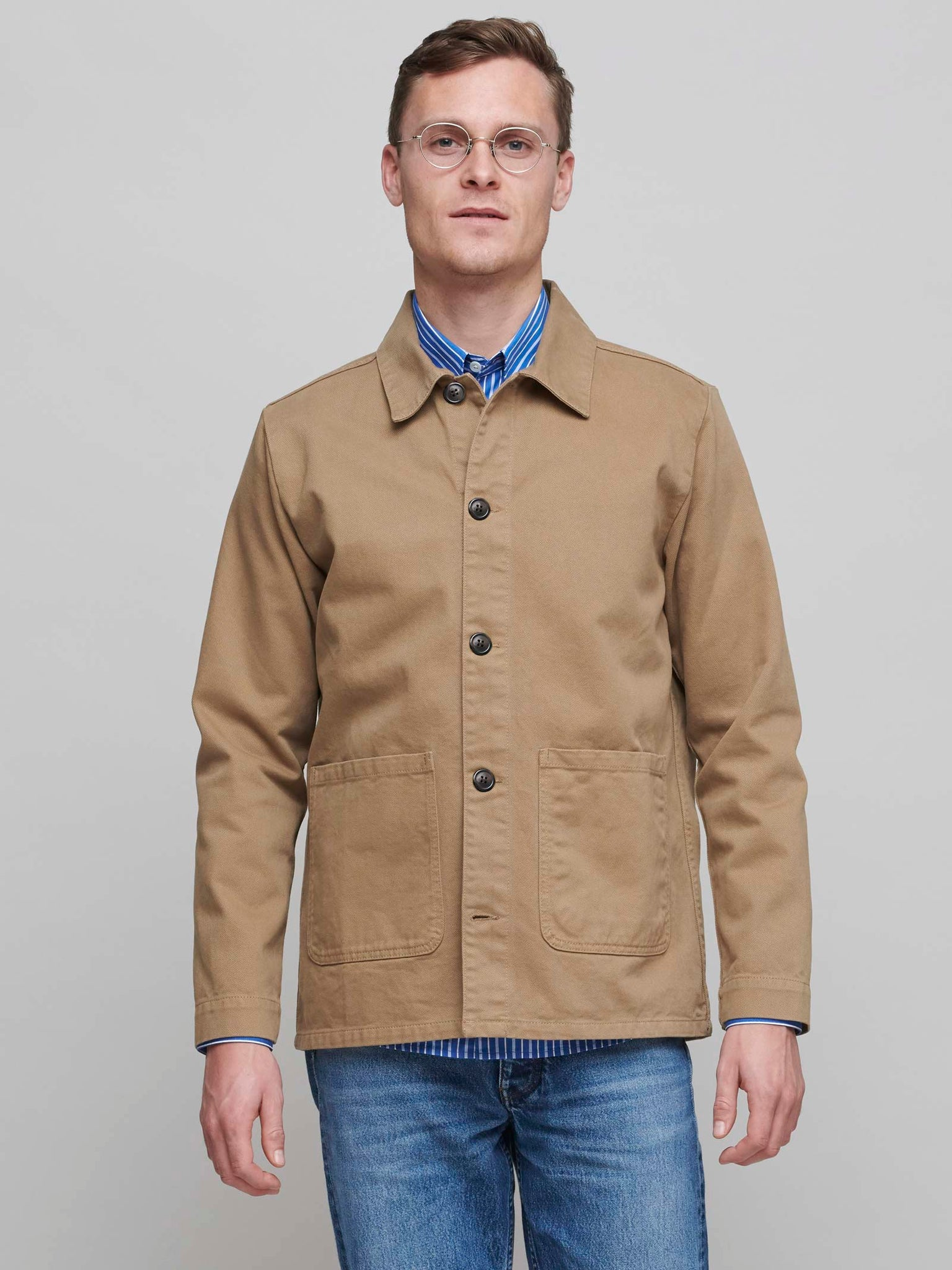 Heavy Shirt Jacket, Khaki