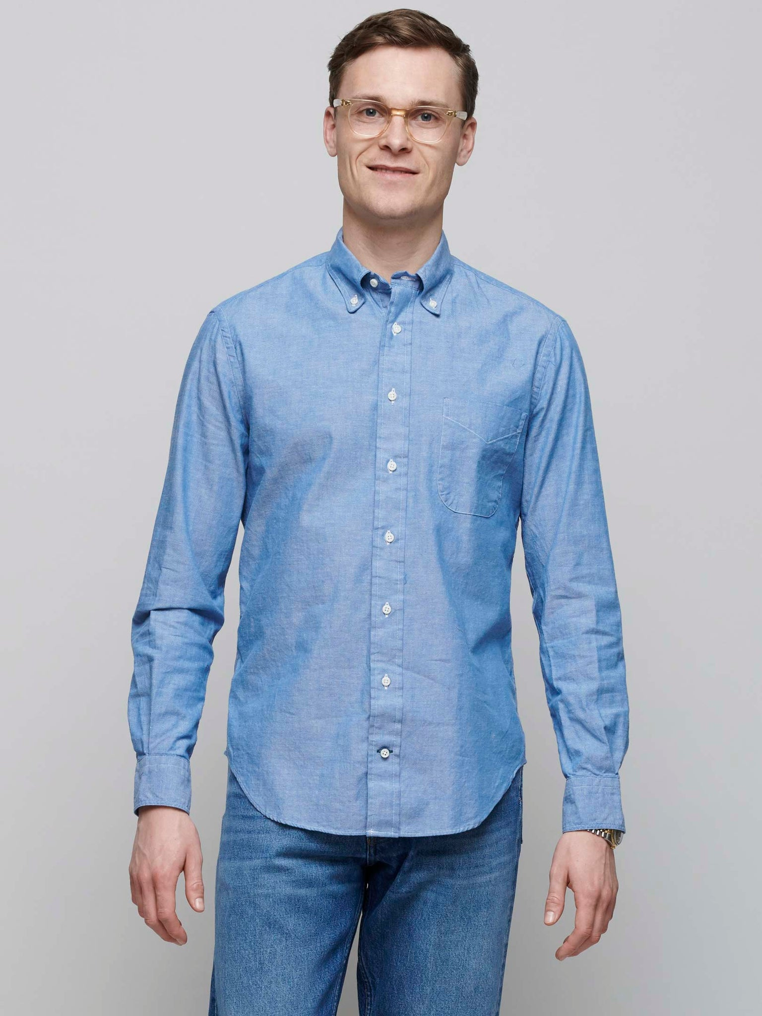 Chambray Shirt, Navy