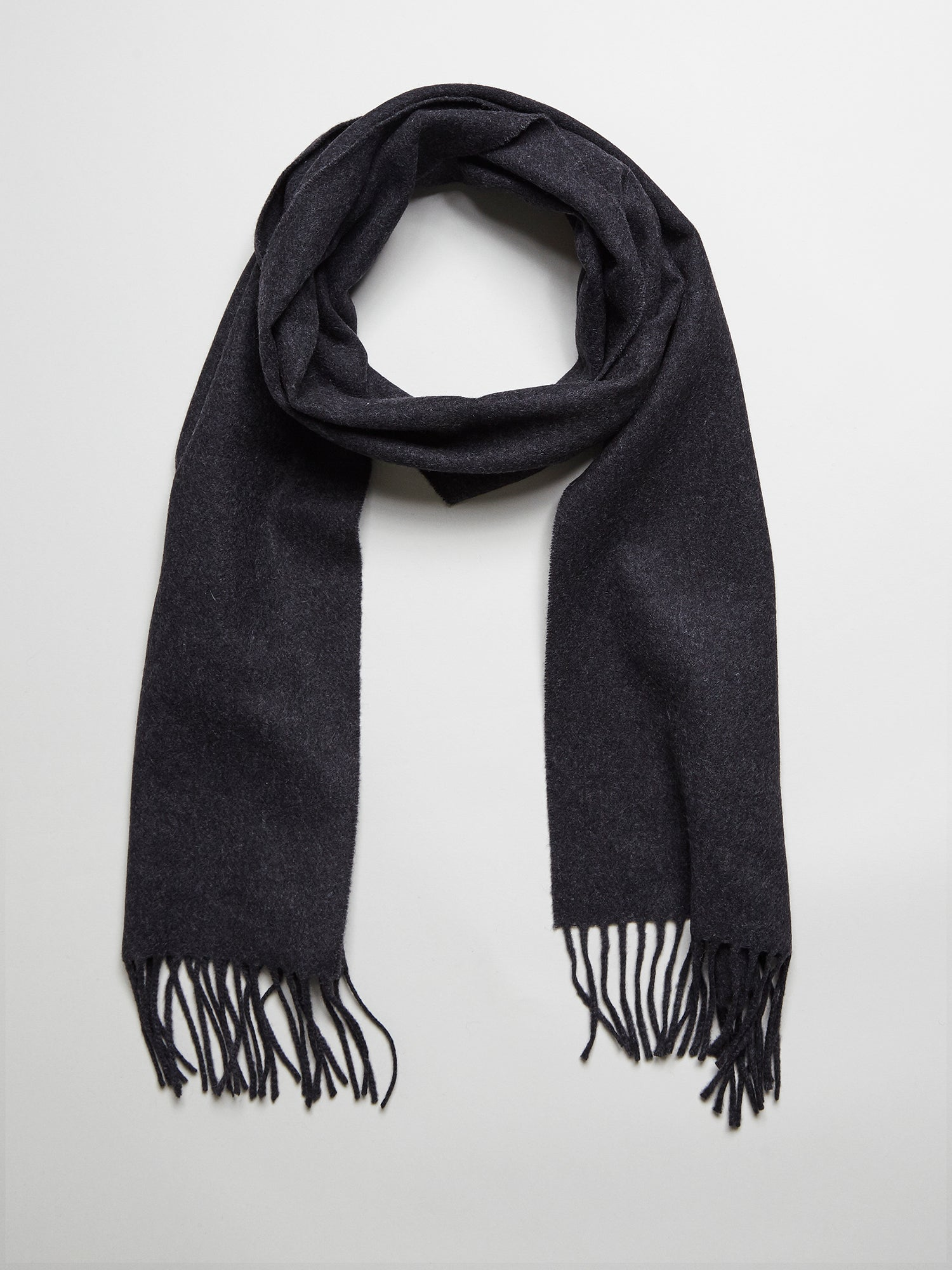 Wool Cashmere Scarf, Anthracite - Goods