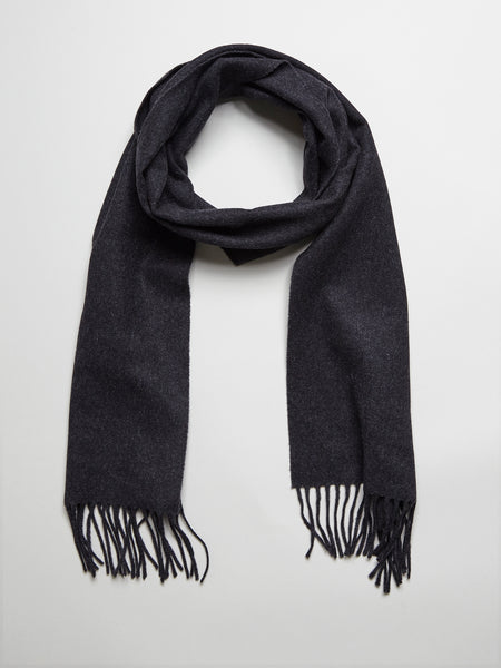 Wool Cashmere Scarf, Anthracite