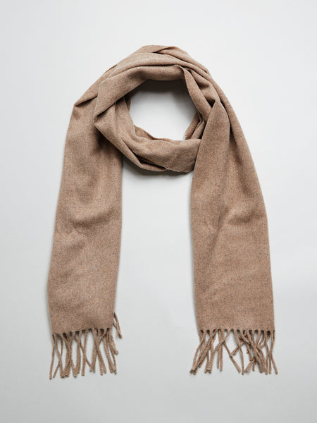 Wool Cashmere Scarf, Camel