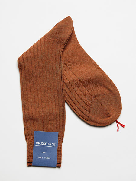 Fine Wool Socks Short, Rust