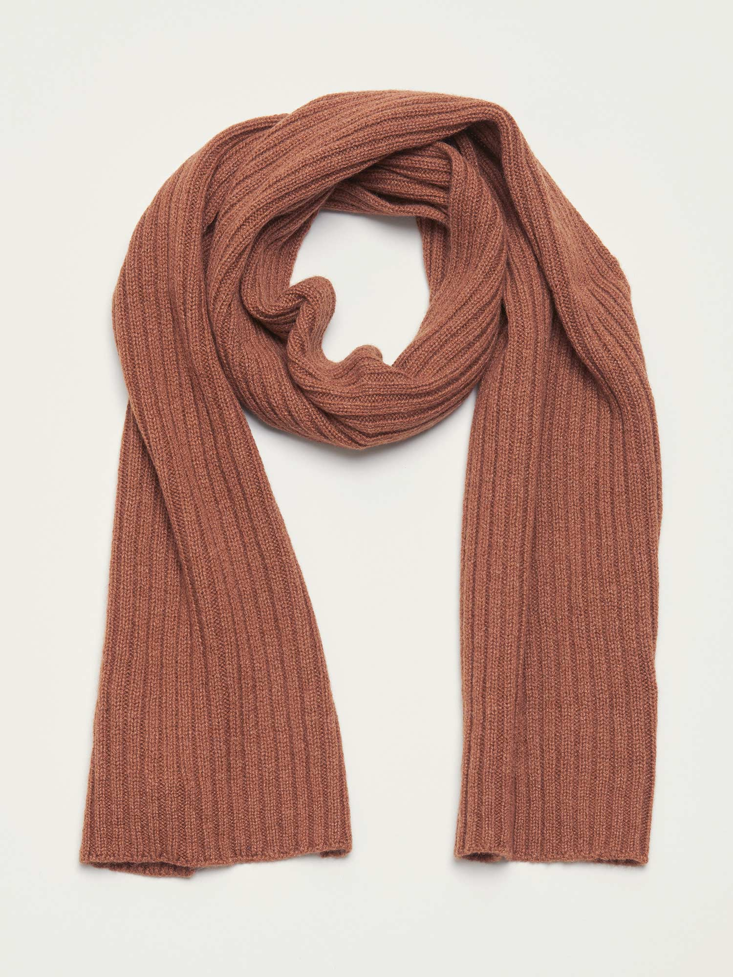 Cashmere Scarf, Brown - Goods