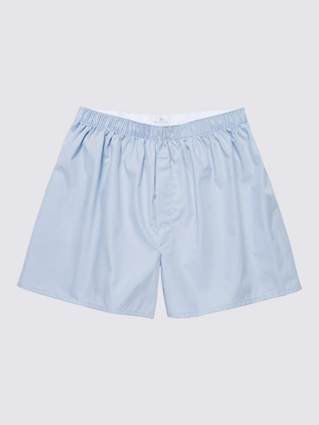 Boxer Short, Plain Blue