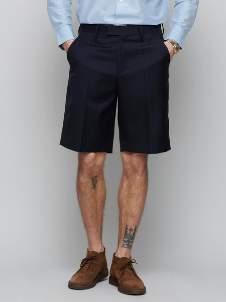 Marlane Wool Shorts, Navy