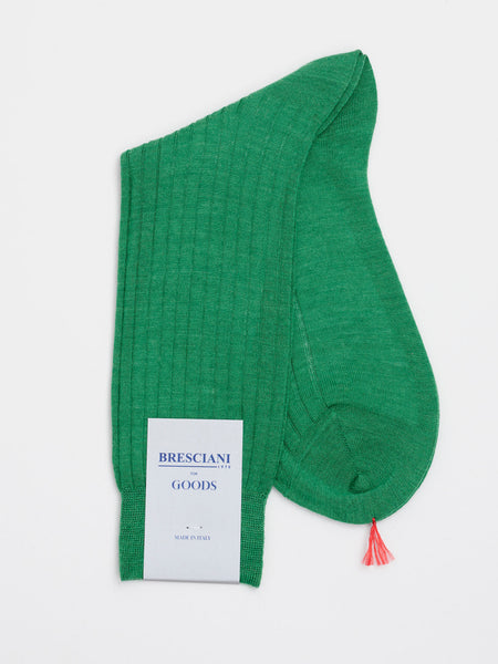 Fine Wool Socks Short, Basil Green