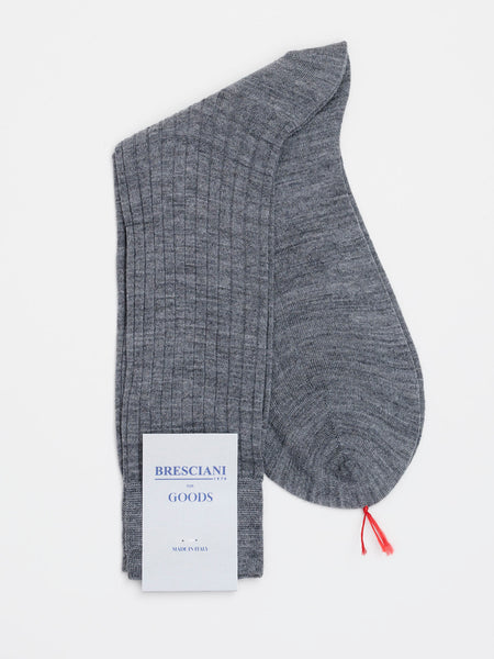Fine Wool Socks Short Grey