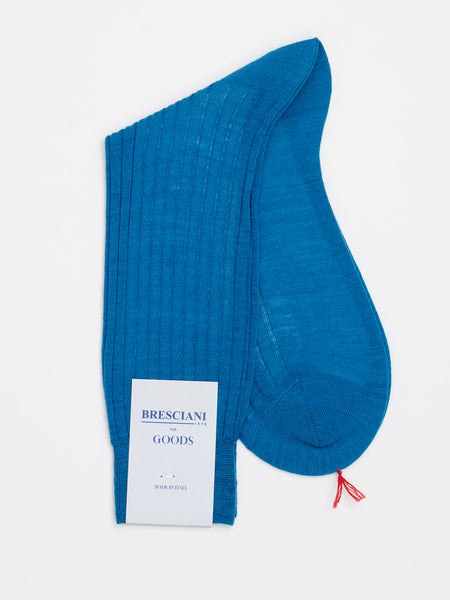 Fine Wool Socks Short, Petroleum Blue