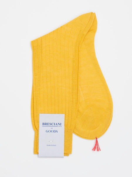 Fine Wool Socks Short, Corn Yellow