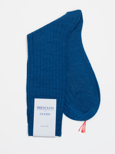 Fine Wool Socks Short, Dark Petrol