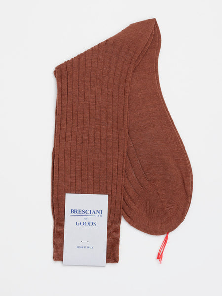 Fine Wool Socks Short, Brown