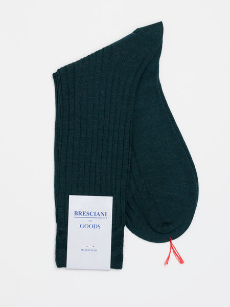 Fine Wool Socks Short Green