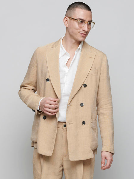 Siroco Double Breasted Jacket, Beige
