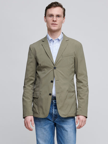 Packable Travel Blazer, Olive