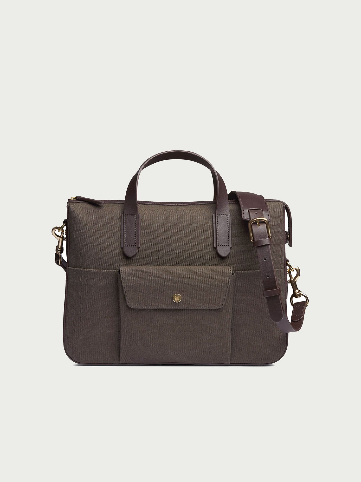 M/S Briefcase, Army/Dark Brown - Goods
