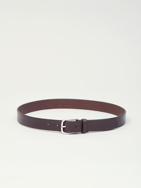 Leather Belt, Dark Brown - Goods
