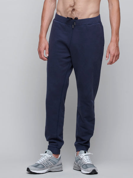 Cotton Loopback Track Pant, Navy