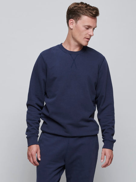 Cotton Loopback Sweatshirt, Navy