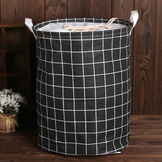35cmx45cm Folding Drawstring Port Dirty Clothes Laundry Basket