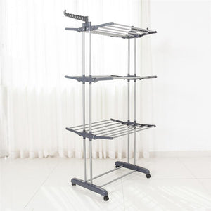 Folding Drying Dryer Rack Hangers 3 Tiers Clothes Laundry