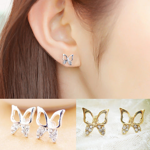 Butterfly Crystal Female Earring