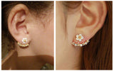 Flower Stud Earrings for Women