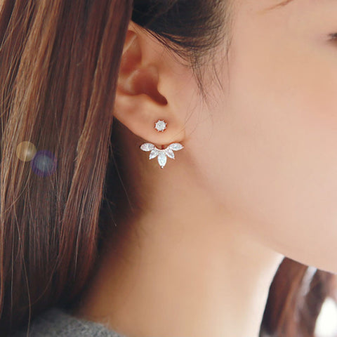 Clip Leaf Stud Earrings For Women