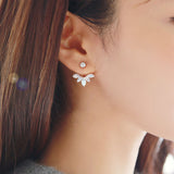 Leaf Stud Earrings For Women
