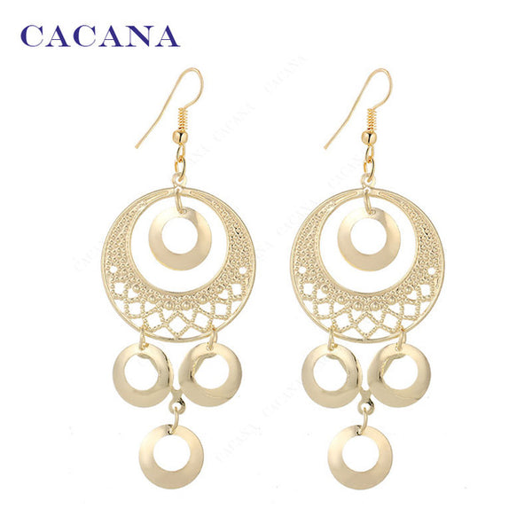 Dangle Long Earrings Roung Shape