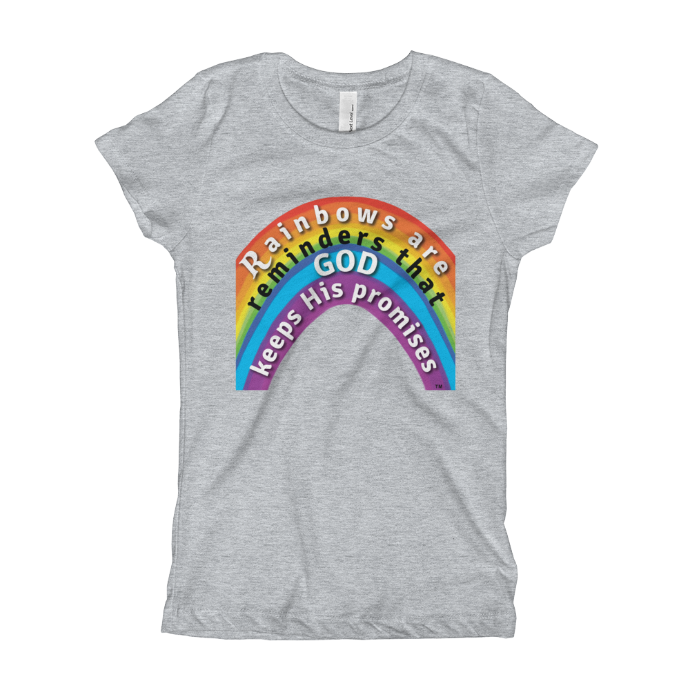 Rainbow Princess Tee heather grey christian apparel