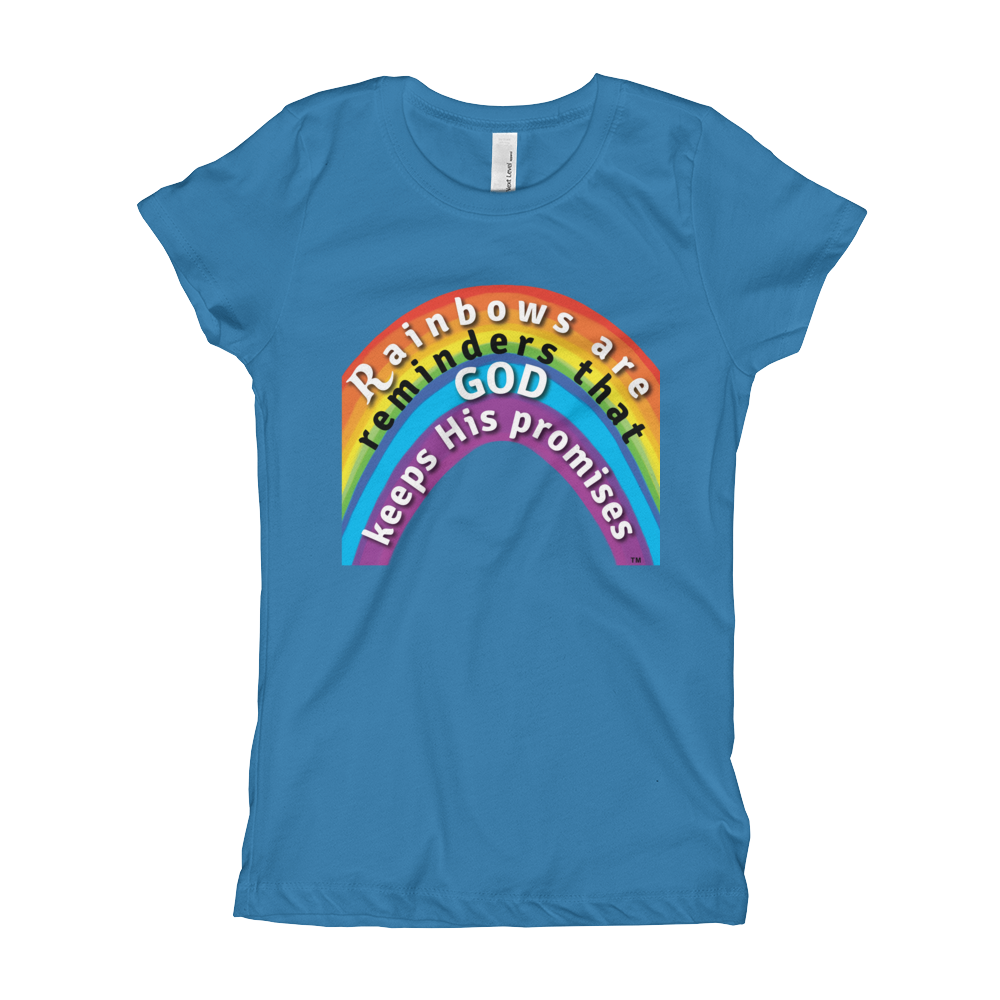 Rainbow Princess Tee turquoise kingdom kids t-shirt