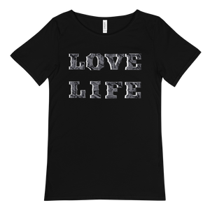 LOVE LIFE Raw Neck Tee
