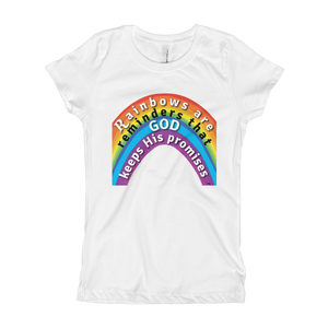 Rainbow Princess Tee white kingdom kids t-shirt Next Level