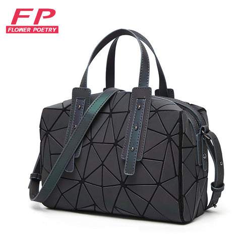 0a03ff9126 Fashion Zipper Bao Bags Women Luminous sac Bag Tote Geometry Quilted  Shoulder Bags Saser Plain Folding