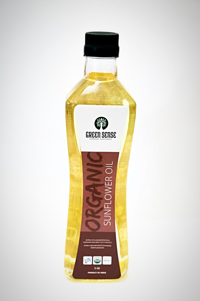 Organic Sunflower Oil - 1 Lt